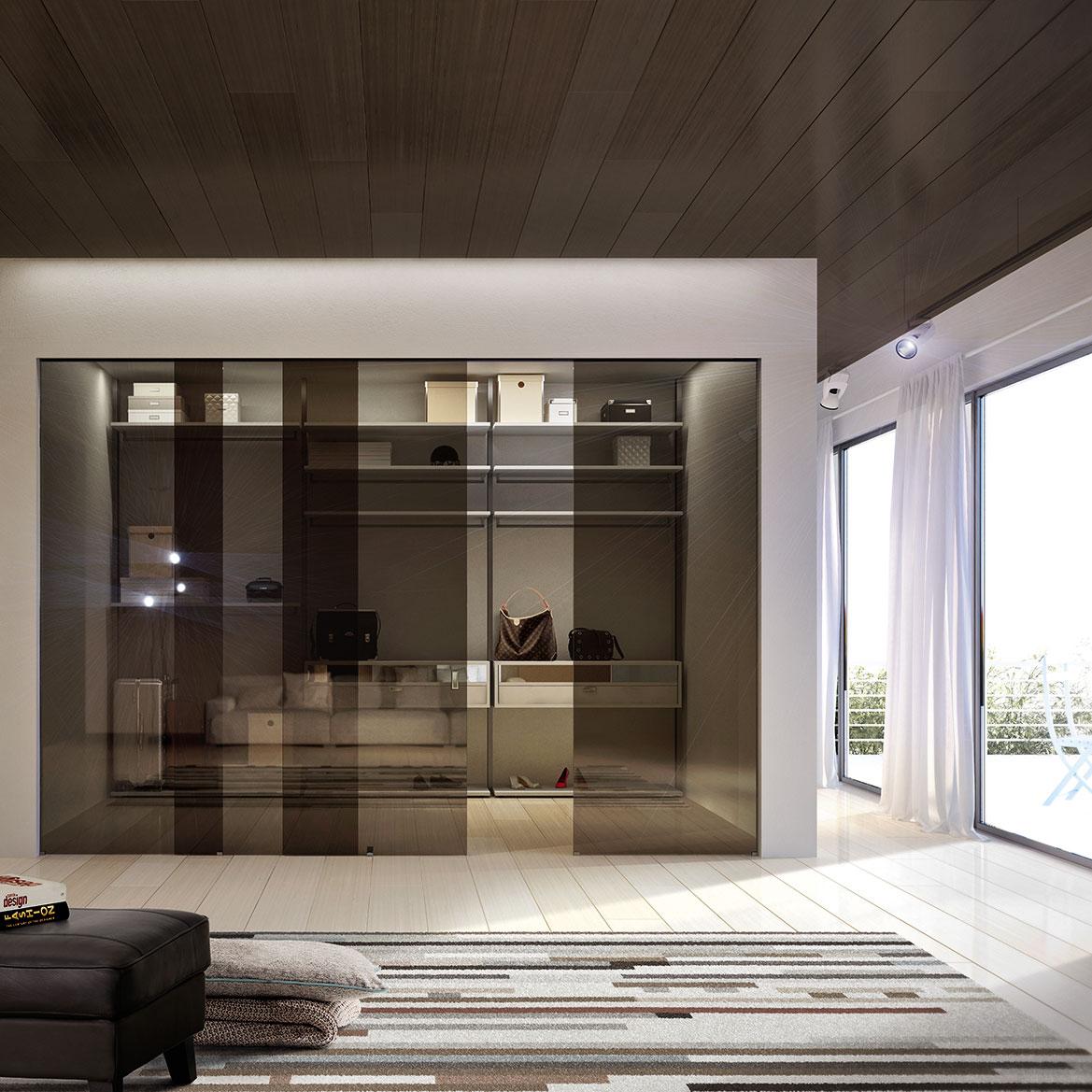 Porta Scorrevole Vetro 120 Cm walk-in wardrobe   henry glass