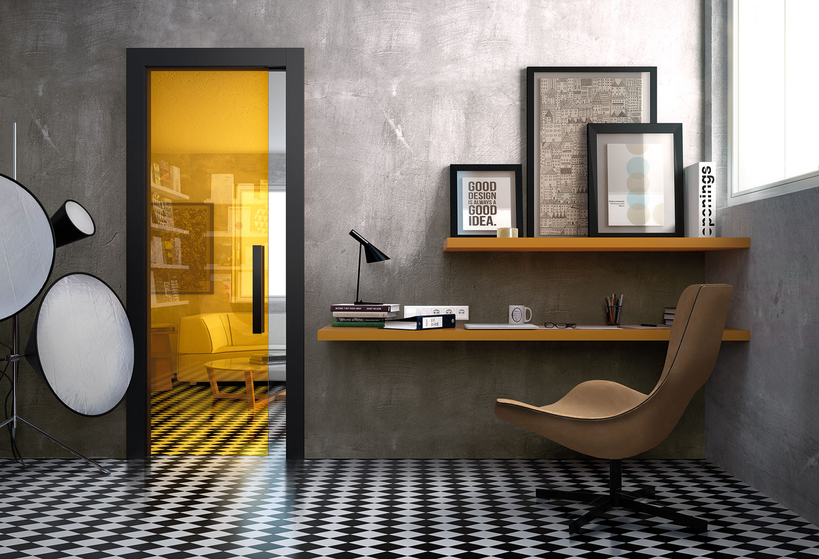 Disappearing sliding door curry clear glass black lacquered Xilo frame & Disappearing Sliding Glass Doors | Henry glass